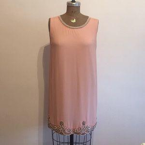 EUC Forever 21 Pink Beaded Shift Dress S